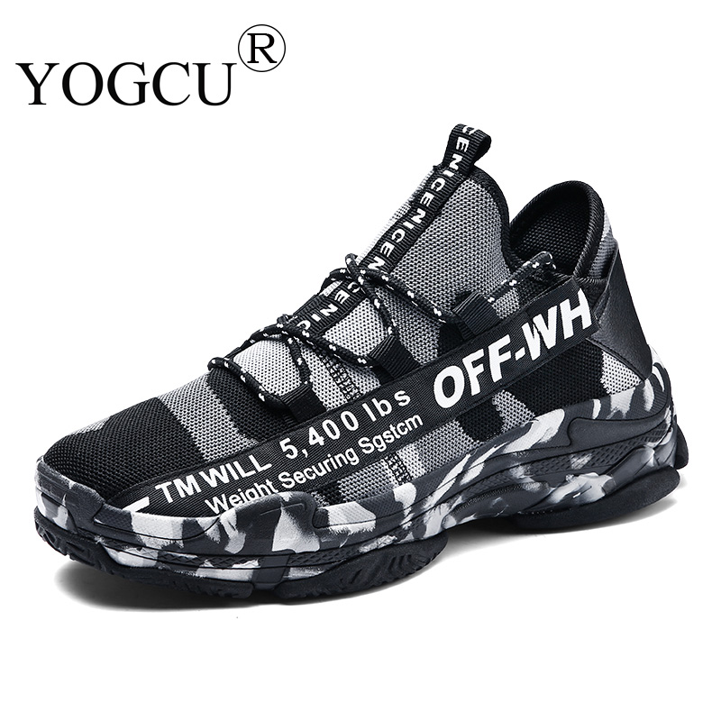 Mens Sports Shoes Non-slip Youth Breathable Camo Outdoor Travel Flying Knit Superstar Running Shoes