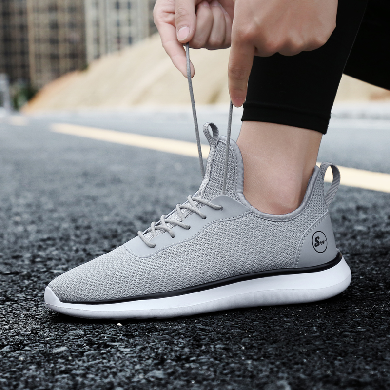 Men s Spring Running Shoes Big Size Trainers Breathable Sports Sneakers Light Anti slip Walk Male