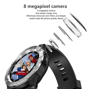 Image 4 - Relógio inteligente homem esporte adulto à prova dwaterproof água relógio inteligente android suporte cartão sim tf crad pedômetro câmera bluetooth smartwatch