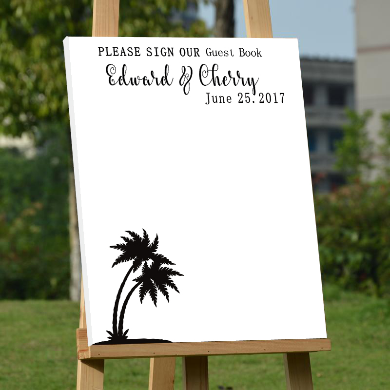 Personalized Wedding Canvas: Personalized Wedding Guest Book,White Wedding Guest Book