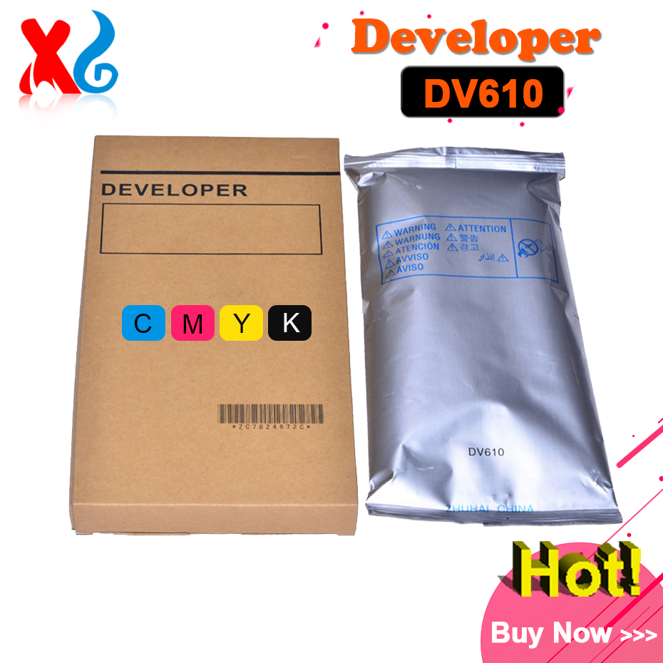 1Set DV610 Developer for Konica Minolta Bizhub Pro C5500 C5501 C6500 C6501 5500 5501 6500 6501 1100g/Bag Compatible Iron Powder developer unit dv512 compatible konica minolta bizhub c224 c284 c364 c454 c554 bk m c y 4pcs lot