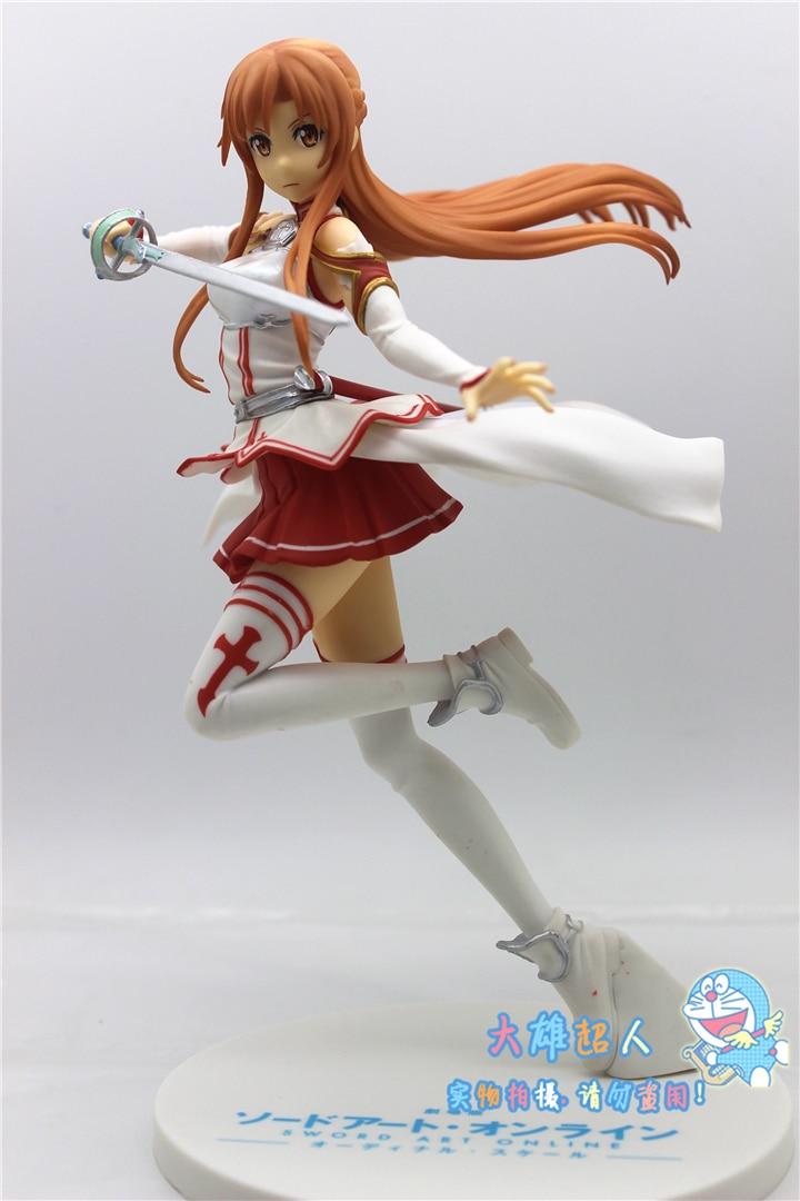 VOGUE Game Anime Statue Sword Art Online Yuki Yuuki Asuna  with Sword Battle SEGA Figurine Figure Toys VOGUE Game Anime Statue Sword Art Online Yuki Yuuki Asuna  with Sword Battle SEGA Figurine Figure Toys
