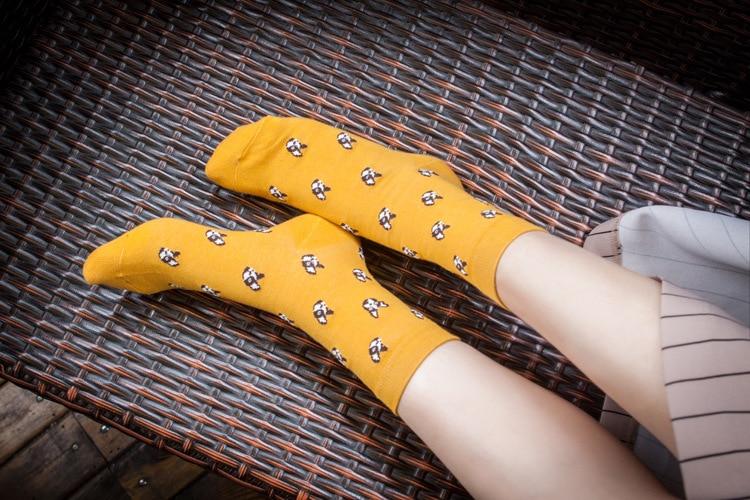 Quality New Creative Men Women Zoo Cotton Socks Animals Fox Dog Female Cartoon Unisex Lovely Women Socks Drop Shipping 1 Pair 2