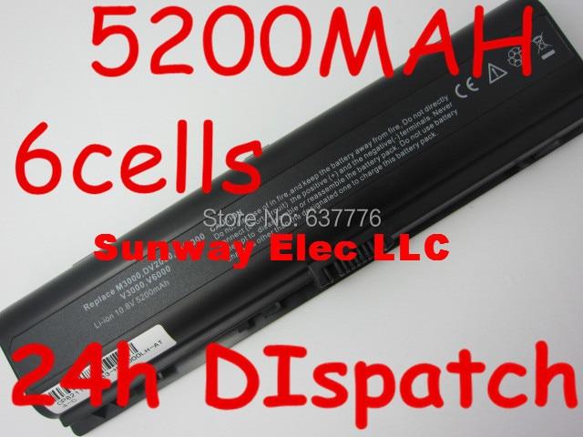 5200mAH Battery For HP Pavilion DV2000 DV2700 DV6000 DV6700 DV6000Z DV6100 DV6300 DV6200 DV6400 DV6500 DV6600