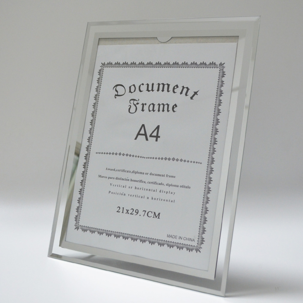 Giftgarden A4 Glass Document Frames Tabletop Certificate