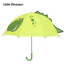 ФОТО green dinosaur cartoon patterns umbrellas kids long handle children paraguas parasol lovely umbrellla kid umbrellas-01