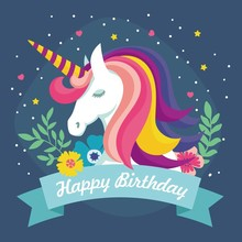 Laeacco Unicorn Happy Birthday Olive branch Scene Baby Photography Background Customized Photographic Backdrop For Photo Studio