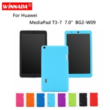 Silicone case for Huawei MediaPad T3-7 7.0 inch cover soft rubber tablet coque para T3 BG2-W09