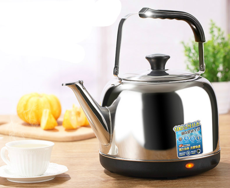Electric kettle 304 stainless steel home cooking large capacity open 5L Safety Auto-Off Function electric kettle boiling pot 304 stainless steel home insulation 1 5l safety auto off function