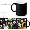 Custom Coffee Morphing Mugs Creepypasta Family Heat Sensitive Tea Milk Cup Black Color Changing Magic Ceramic Mug 350ml/12oz