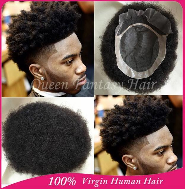 New Arrival Afro Curl Mens Tou 7 X9 Real Virgin Indian Hair No Blended