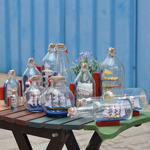 nueva caliente de vidrio decorativo barco pirata barco de vela de deriva deseando botella hogar decoracin del escritorio de oficina regalos creativos