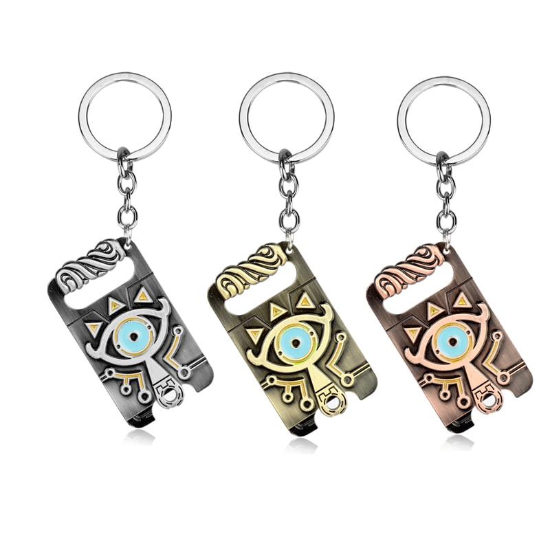 Wholesale Legend of Zelda Keychain Sheikah Slate Pendant Keyrings Breath of the Wild Game Jewelry key Holder Accessories Cosplay