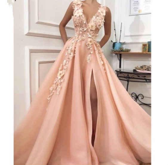 LORIE 2019 A-line Prom Dresses reduz Apliques Lindo vestido de Princesa de Tule Sleveless Backless v robe de soiree Custom made