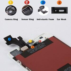 Image 2 - 10/szt. Przedni wyświetlacz dla iPhone 6 6s LCD z ekranem dotykowym z naprawa ramy wymiana zespołu Digitizer telefonu bez martwych pikseli DHL