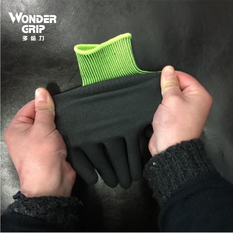 2 Paar Gartenhandschuhe Schutzhandschuhe Nylon Mit Nitril - Schutz und Sicherheit - Foto 2