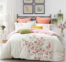 100%Cotton White Embroidery Bedding set