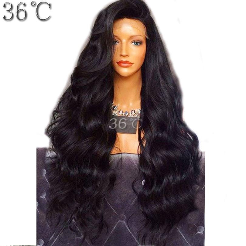 Плотность 250% полный шнурок парик человеческих волос для черных Для женщин глубокая волна естественный Цвет бразильский девственные волосы...