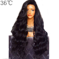 36C Deep Wave Full Lace Wig Brazlian Non Remy Hair Natural Color 180 Density Human Hair