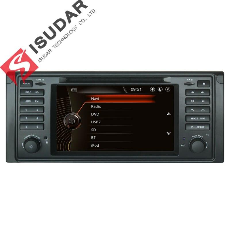 Isudar автомобильный мультимедийный плеер gps для BMW 5 серии/X5 E53 E39 Canbus Радио Емкостный Сенсорный экран заднего вида Камера микрофон