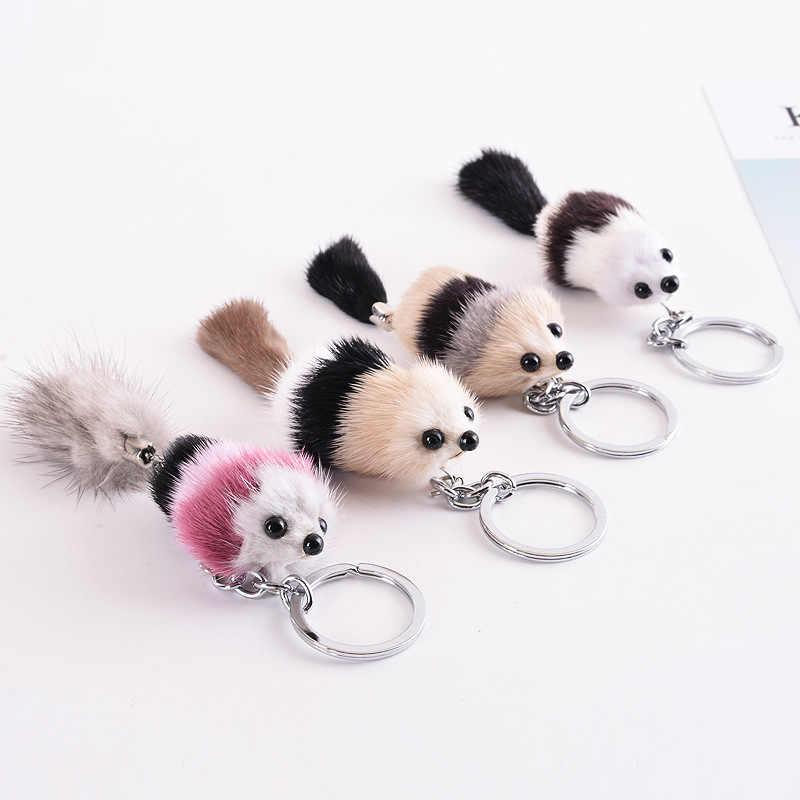 Inverno Bonito Pequeno Chaveiro Fox Pingente De Pele Novo Cabelo Fox Chaveiro Chaveiro Com A Imagem Do Bebê