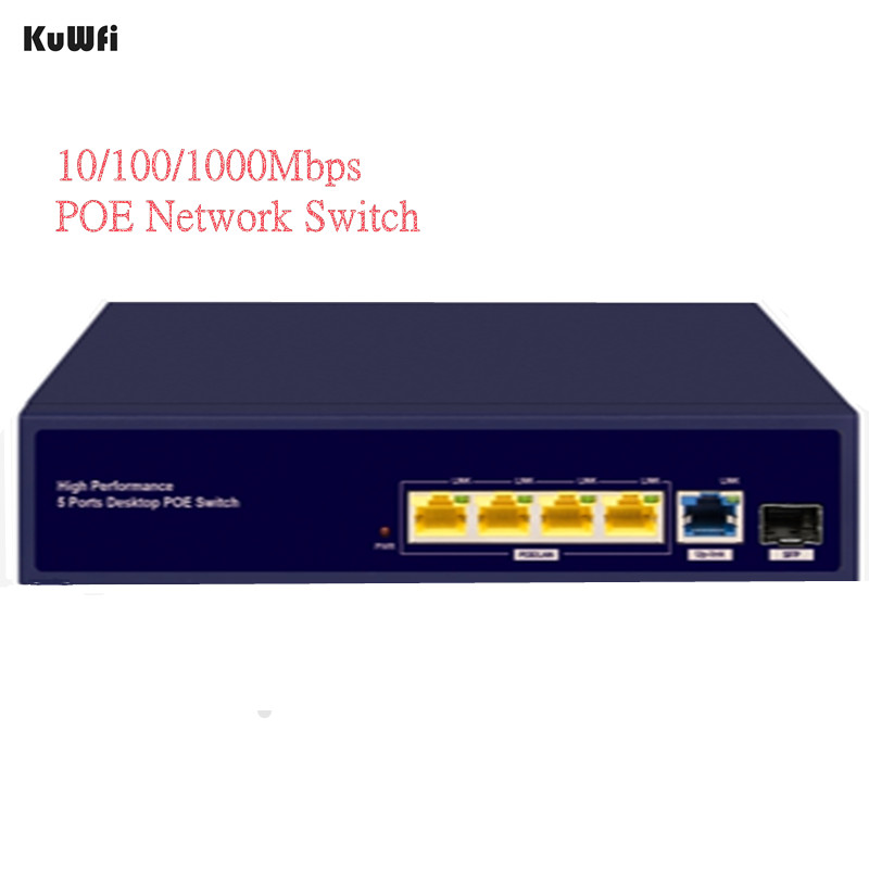 Image 3 - 6Ports Gigabit POE Switch 1000Mbps Ethernet Switchs for Network Cameras&Wireless AP 30W Switch With Gigabit SFP Fiber-in Network Switches from Computer & Office