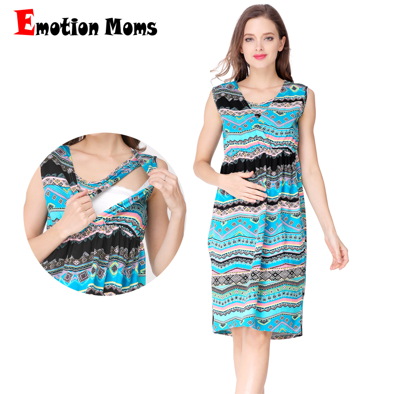 Emotion Moms V-Neck Summer Maternity Clothes nursing Breastfeeding Dresses Pregnancy Dress for Pregnant Women Maternity Dress emotion moms new turtleneck maternity clothes nursing dress breastfeeding pregnancy clothes for pregnant women maternity dresses