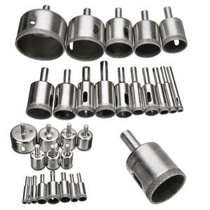 Drill-Bit-Set Tile Diamond-Coated Power-Tools Marble Glass Ceramic-Hole 15pcs for 6mm-50mm