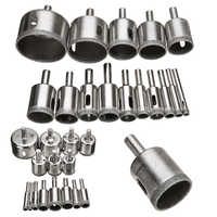 15pcs Diamond Coated Drill Bit Set Tile Marble Glass Ceramic Hole Saw Drilling Bits For Power Tools 6mm-50mm