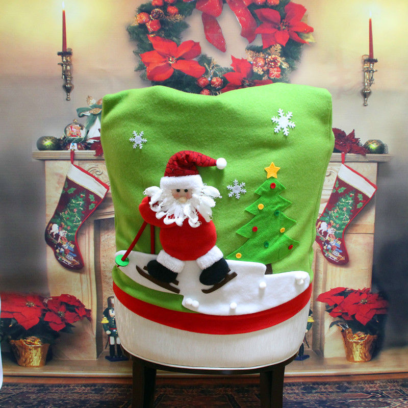 christmas dining room chair covers | New Arrival Lovely Christmas Chair Covers Snowman Elk ...
