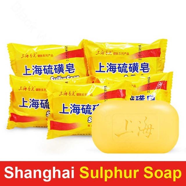 Jabón de sulfuro para Eczema Psoriasis seborreica Eczema Dermatitis antimicótica HS11