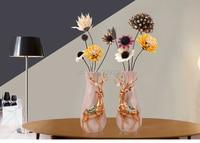 Creative artificial Resin Vase flower vase, flower set, furnishings, home entrance, living room table decoration