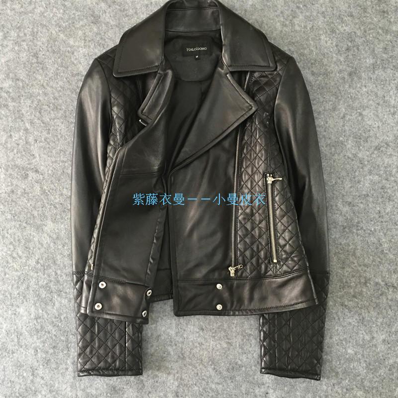 Mode Naturelle Courte Véritable Black Moto Real Livraison Peau Mince Femelle Cuir En Leather Survêtement Mouton Gratuite Femmes De Veste rwqfPCrAx
