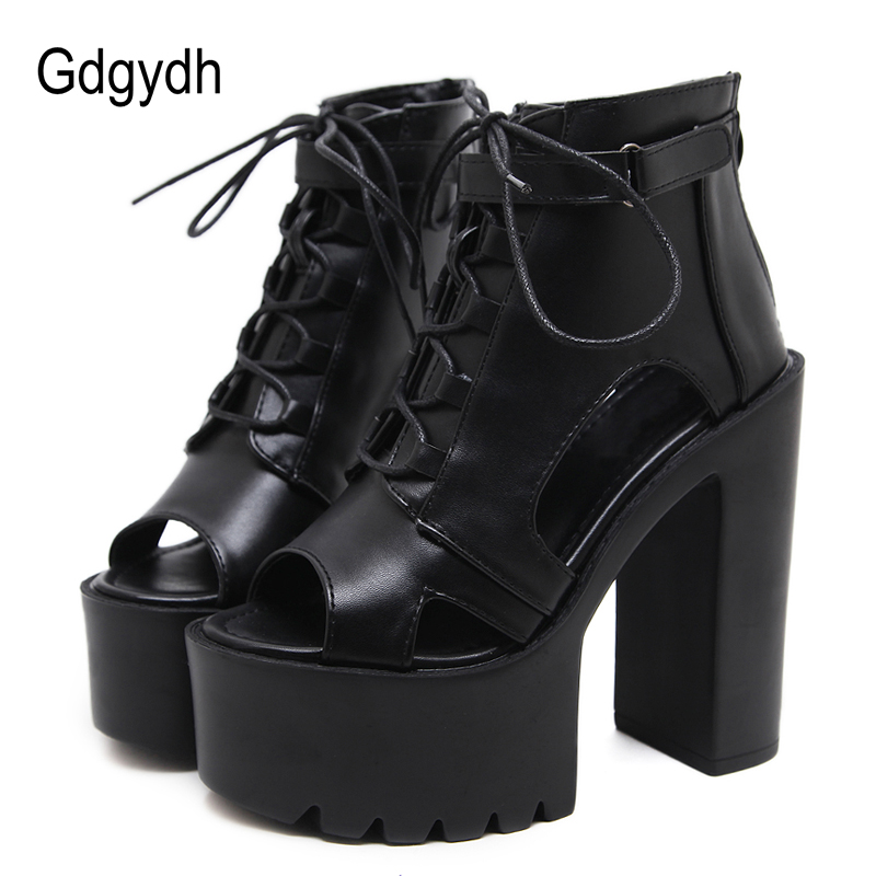 Gdgydh Open Toe Summer Shoes Woman 2019 Spring Autumn Black Extreme High Heels Fashion Buckle Sapato Feminino Ladies SandalsGdgydh Open Toe Summer Shoes Woman 2019 Spring Autumn Black Extreme High Heels Fashion Buckle Sapato Feminino Ladies Sandals