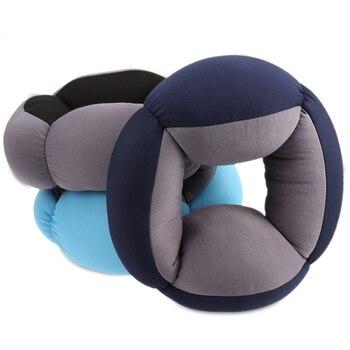Annular Nap Pillow Office Lazy Sleep Cushion Blinker Circle Neck Protection Travel Pillow Car Soft Comfortable Sleep Shockproof circle
