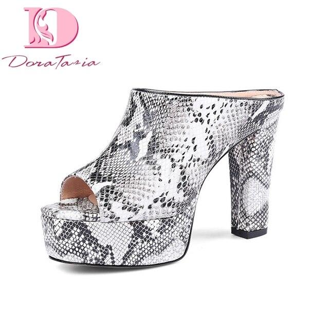 6459032e9ff Doratasia women good quality brand Genuine Leather High Heels Platform Shoes  Woman Casual Summer mules Pumps