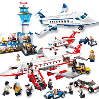 Airplane Toy Air Bus Model Airplane Building Blocks Sets Legoing for Children Assemble Technic Brick Classic Toys