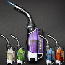 BBQ Outdoor Ignition Hose Torch Turbo Lighter Jet Butane Cigar Kitchen Flexible Fire Pipe 1300 C Windproof No Gas