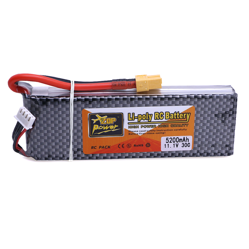 3S Lipo Battery Pack 11.1 V 5200mAh 30C 3PCS  for RC Airplane RC Helicopter RC Hobby free shipping 1s 2s 3s 4s 5s 6s 7s 8s lipo battery balance connector for rc model battery esc