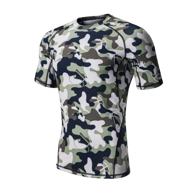 Camouflage Men's Shirt for Yoga