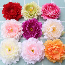 European style silk peony head artificial flowers for home wedding car decorative Bride bouquet crafts manual wreath fake flower