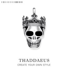Pendant Skull Crown,2019 925 Sterling Silver Fashion Jewelry Thomas Style Bijoux Necklace Accessories Gift For Ts Woman & Men(China)