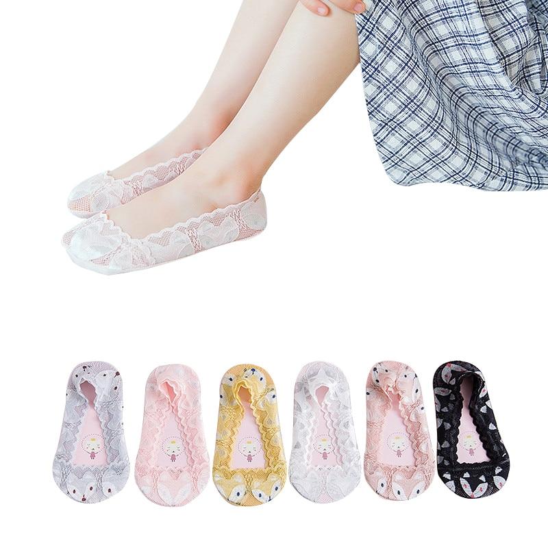 Kids Socks New Summer LittleBaby Girls Lace Silk Boat Socks Non-slip Children's Mesh Socks Thin Crystal Invisible Socks