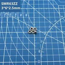 Free Shipping SMR63ZZ CB C3 ABEC7 3x6x2.5mm smr63 zz hybrid ceramic si3n4 ball Stainless steel rings bearing цена и фото