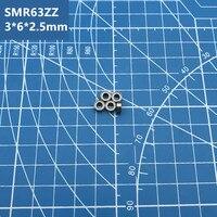 Frete grátis 2pcs alta qualidade SMR63ZZ 440C aço inoxidável híbrido cerâmico rolamento de esferas de sulco profundo em miniatura SMR63 3 * 6*2.5mm|Rolamentos|Renovação da Casa -