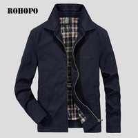 ROHOPO Jacket Man Cotton Military Casual Men Jacket 2019 Spring Breathable Hero Jackets outwear Army Water washed cotton jacket