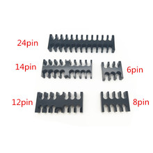 Купить с кэшбэком Black Acrylic Cable Combs for 3mm cables 2pcs+1pc free