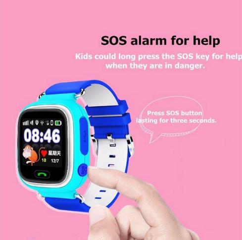 Frete grátis smart watch crianças relógio de pulso 2g gprs gps localizador rastreador anti-perdida smartwatch relógio bebê