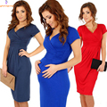 Maternity Women's Dress Tunic Short Sleeve V-Neck Stretchy Bodycon Pregnant Jersey Dresses Vestidos Plus Size