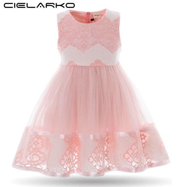 37201c40d9d3 Cielarko Ragazze Flower Dress Bambini Abiti di Pizzo Crochet Del Bambino  Abiti Da Cerimonia Per Bambini